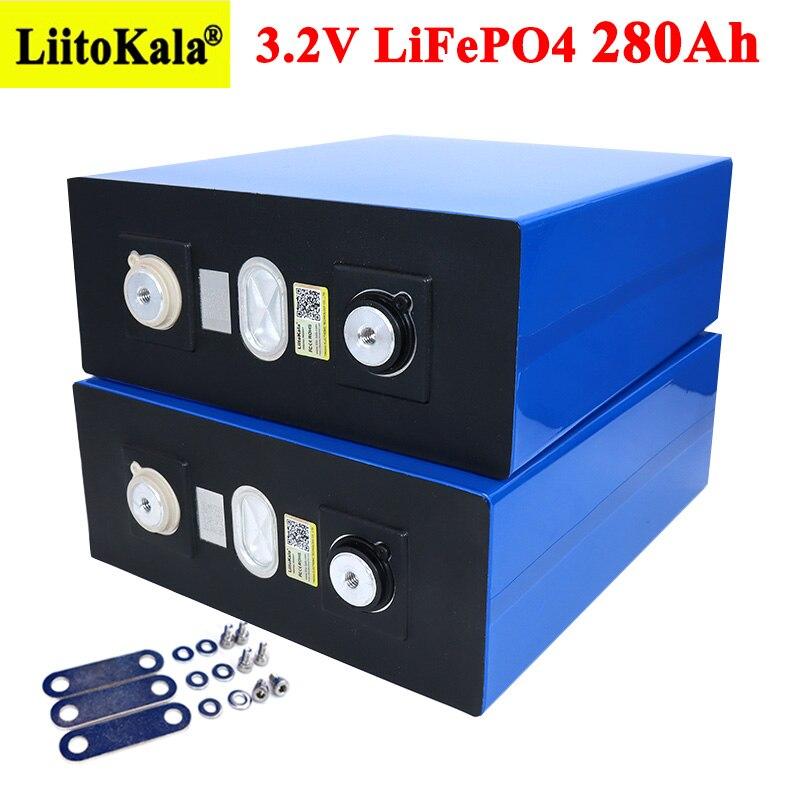 Liitokala 3.2V 280Ah lifepo4 battery DIY 12V 24V 280AH Rechargeable battery pack for Electric car RV Solar Energy storage system